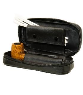 2er Pfeifentasche mit Vortasche