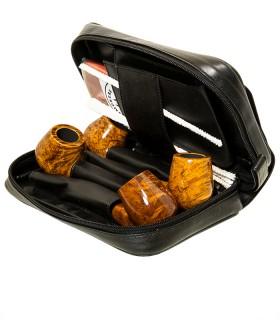 4er Pfeifentasche mit Überschlag